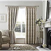 Curtina Ashford Pencil Pleat Curtains - Natural