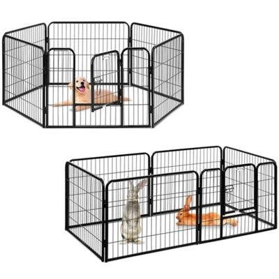 Milo & Misty Heavy Duty Playpen. 6 Panel Folding & Portable Outdoor Cage 80x60cm