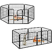 Milo & Misty Heavy Duty Playpen. 6 Panel Folding & Portable Outdoor Cage 80x60cm