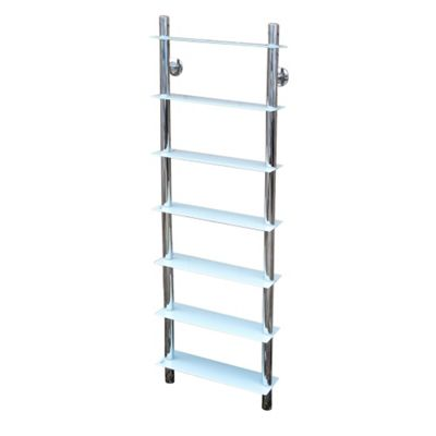 Splash - Wall Mounted Glass Bathroom Storage Shelves - White