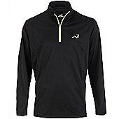Woodworm Golf Mens 1/4 Zip Pullover / Sweater / Jumper - Black
