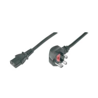 ASSMANN Electronic AK-440107-018-S 1.8m BS 1363 C13 coupler Black power cable