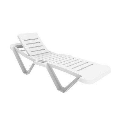 Resol Master White Sun Lounger - x1 Sun Lounger - UV Resistant