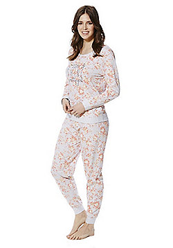 F&F Rise And Shine Slogan Floral Print Twosie - Multi
