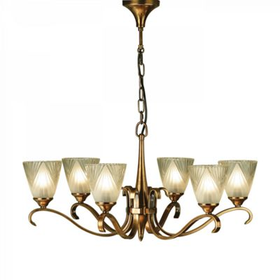 Pendant Light - Antique brass finish & clear glass with frosted inner