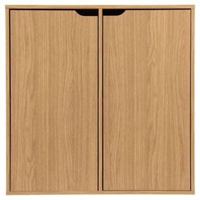 Jasper Storage Cube W/ Doors Oak