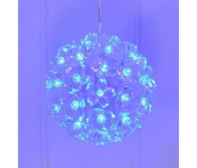 Christmas Winter Blue Multi Action LED Snowball Light