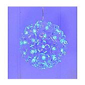Christmas Winter Blue Multi Action LED Snowball Light