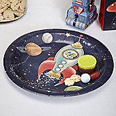 Space Adventure Plates - 23cm Paper Party Plates - 8 Pack