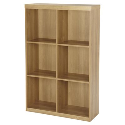 Maine 6 Cube Bookcase - Oak