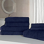Highams Luxury Egyptian Cotton Towel Bale 7 Piece - Navy