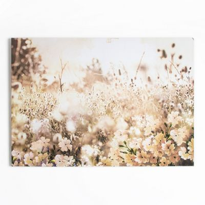Art for Home Layered Meadow Landscape Printed Canvas