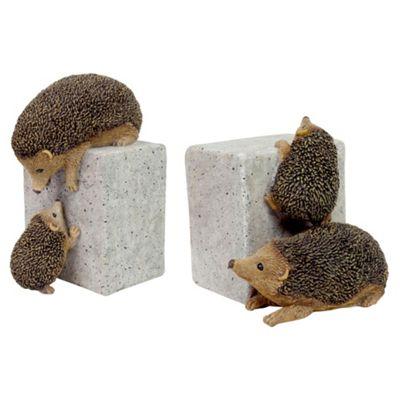 Set of 2 Hedgehogs on Bricks Garden Ornaments