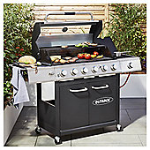 Outback Lumina 6 Burner Premium Gas BBQ with Side Burner and Cover
