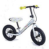 Kiddimoto Fossil Dinosaur Super Junior Max Metal Balance Bike