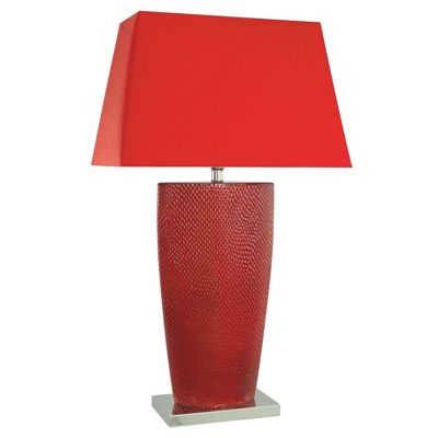 Bahama Red Hot Chilli Statement Lamp with Red Shade