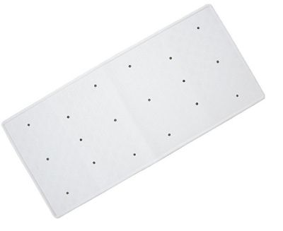Bathmats Rubber Bath Mat - Colour White - Size 34cm x 74cm