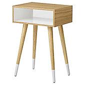 Open Side Table Oak White