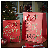 Large Be Merry and Bright Christmas Gift Bag