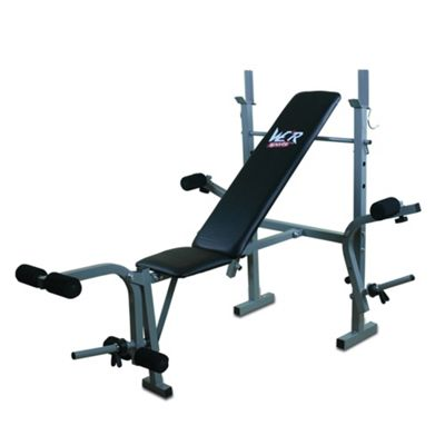 We R Sports XBench 2 Folding Weight Bench with Flyes SILVER-BLACK