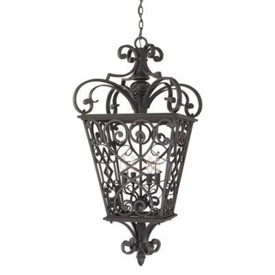 Marcado Black 4lt Chain Lantern - 4 x 60W E14