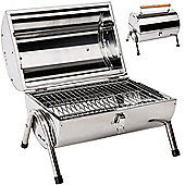 Kingfisher Portable Barrel Stainless Steel Garden BBQ
