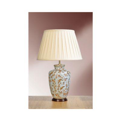Gold Birds & Berries Blue Table Lamp - 60W/20W LE E27