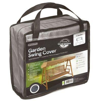 Gardman 3 Seater Garden Swing Cover- Grey