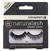Salon System Naturalash Re-Usable Black 202 Double Lashes