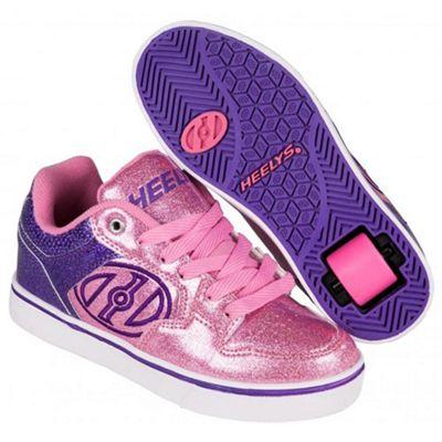 Heelys Motion Plus Purple/Pink Glitter Heely Shoe JNR 12