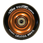 Slamm Black/Orange Anodised Metal Core Scooter Wheel and Bearings