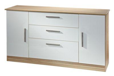 Welcome Furniture Living Room Wide 2 Door / 3 Drawer Unit - Modern Oak