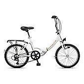 "Orbita Eurobici 6 Speed Folding Bike with 20"" Wheelsl (White)"