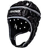 Rhino Rugby Pro Headguard / Scrum Cap - Junior Black - Black