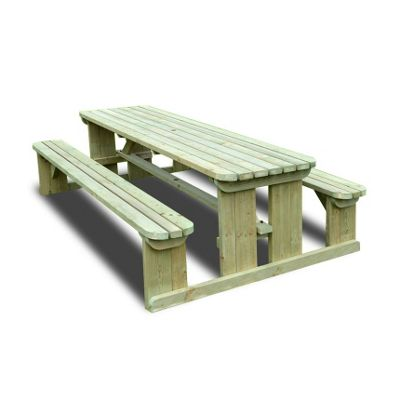 Tinwell rounded picnic bench - 4ft