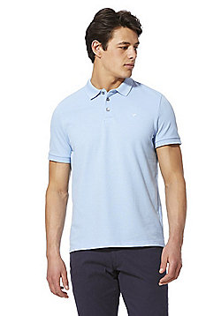 F&F Pique Short Sleeve Polo Shirt with As New Technology - Blue