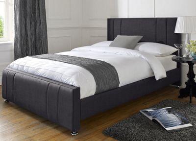 Snug City Single Charcoal Upholstered Bed Frame Knightsbridge Design Made In the UK