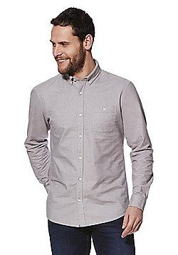F&F Long Sleeve Oxford Shirt - Light grey