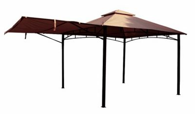 Royalcraft Taupe 3.3m x 3.3m Rigid Gazebo With Awning