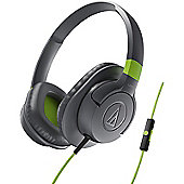 Audio-Technica ATH-AX1iS SonicFuel Headphone + Smartphone Controls (Grey)