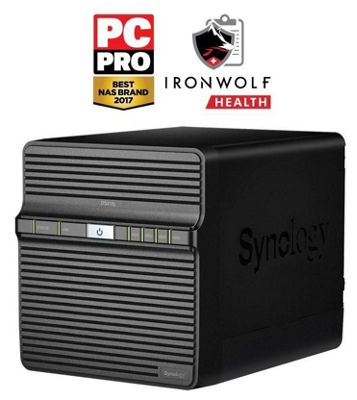 Synology DiskStation DS418j/24TB-IW powerful entry-level 4-bay 24TB(4x6TB Seagate IronWolf) NAS