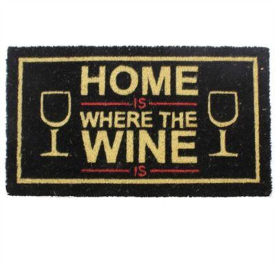 Where The Wine Is Coir Door Mat 40x70cm