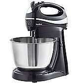 VonShef Hand & Stand Mixer with 3.5L Bowl, Black, 300W