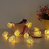 Sentik 30 Warm White LED String Rose Flower Fairy Lights Indoor Christmas Bedroom