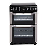 Belling FSG60DOF - 600mm Double Gas Cooker with Electric Grill, Stainless Steel