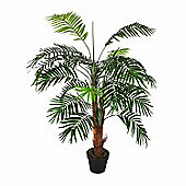 Homescapes Green Mini Palm Tree Artificial Plant with Pot, 120 cm