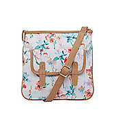F&F Floral Print Canvas Cross-Body Bag