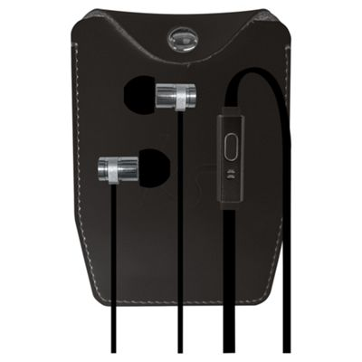 KitSound Nova In-ear with Stylish Pouch - Black