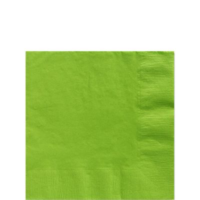 Lime Green Beverage Napkins - 2ply Paper - 100 Pack
