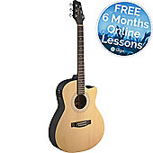 Stagg Electro-Acoustic Auditorium Guitar - Natural